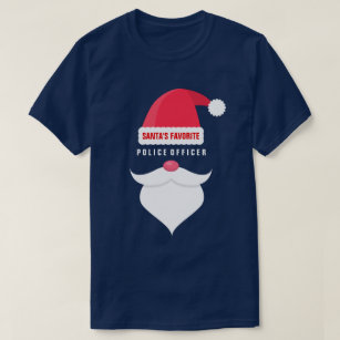 funny christmas santas favorite police officer t shirt
