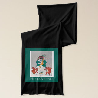 Funny Christmas Scarf - Snowman Playing Horn