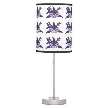 Beach Themed Funny Christmas Shark Reindeer Desk Lamp