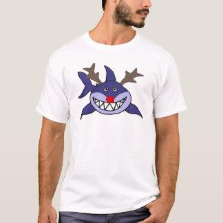 Funny Christmas Shark Reindeer T-Shirt