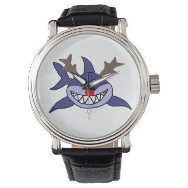 Beach Themed Funny Christmas Shark Reindeer Watches