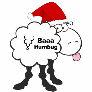 funny christmas sheep bah humbug cutout ornament photo sculpture ornament