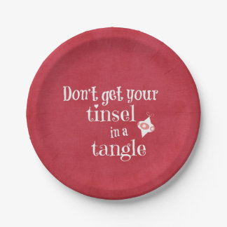 Funny Christmas 7 Inch Paper Plate