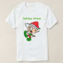 Funny Christmas Shirt Cute Elf Holiday Stress