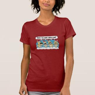 Funny Christmas shirt: Hairy Angels T-Shirt