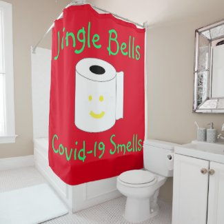 Funny Christmas Shower Curtain