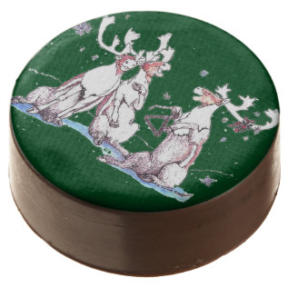 Funny Christmas Singing Caribou Delicious Cookie at Zazzle