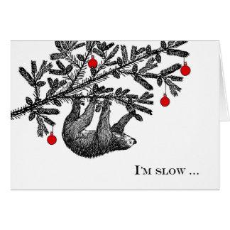 Funny Christmas Sloth, Merry Slothmas Card