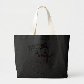 Funny Christmas Snowman Tote Bag