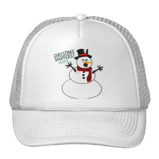 Funny Christmas Snowman Trucker Hat
