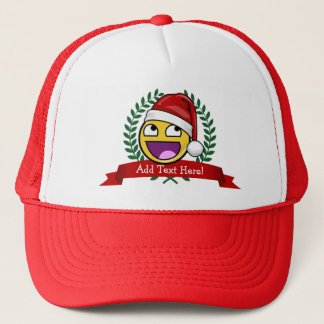 Funny Christmas Style Awesome Face Meme Trucker Hat