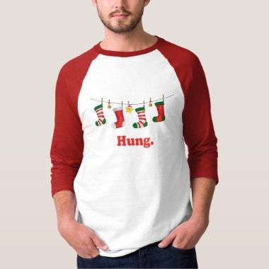 Funny Christmas T shirt Hung. xmas gift ideas