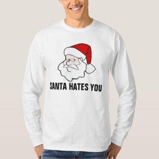 Funny Christmas T-shirts, Santa Hates you T Shirt