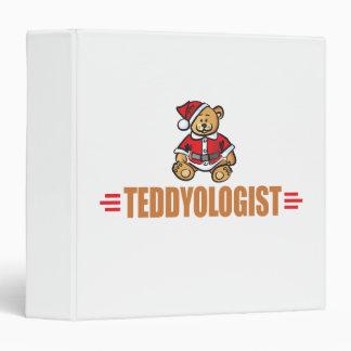 Funny Christmas Teddy Bear Binder