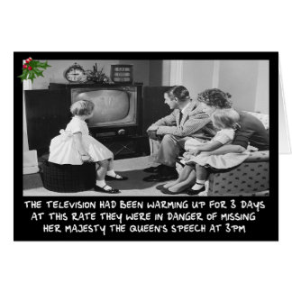 Funny Christmas television Card