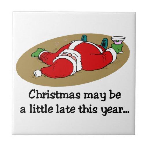 Funny Christmas Tile Trivet