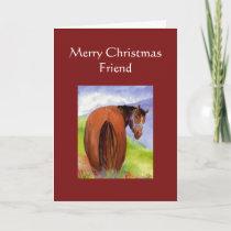 Funny Christmas Treats Horses Behind Humor Holiday Card