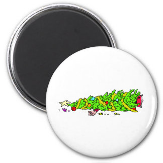 Funny Christmas Tree Cartoon Refrigerator Magnet