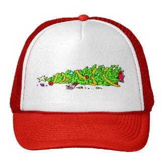 Funny Christmas Tree Cartoon Trucker Hat