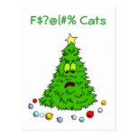 Funny Christmas Tree Jokes Cats Holiday Postcards