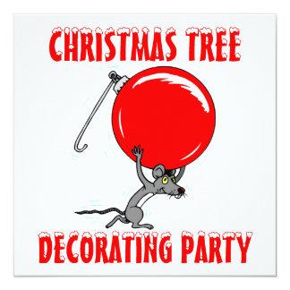 Funny Christmas Tree Mouse Humor Card