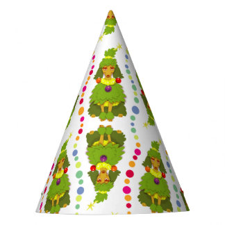 Funny Christmas Tree Poodle Party Hat