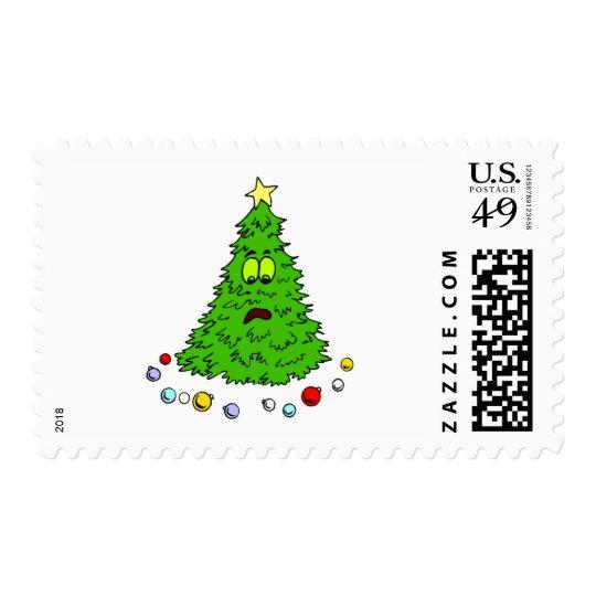 Funny Christmas Tree Postage