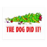 Funny Christmas Tree Postcard