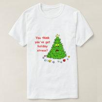 Funny Christmas Tree Shirt Holiday Stress
