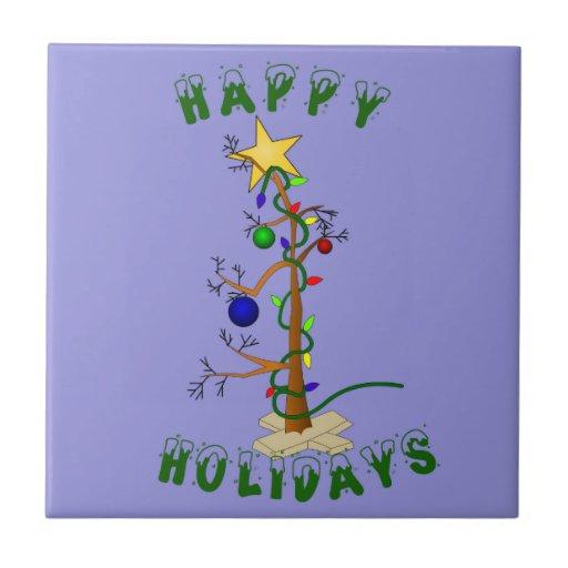 Funny Christmas Tree Tile
