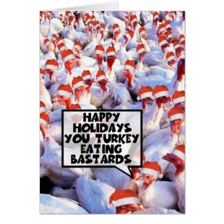Funny Christmas Turkey Greeting Cards
