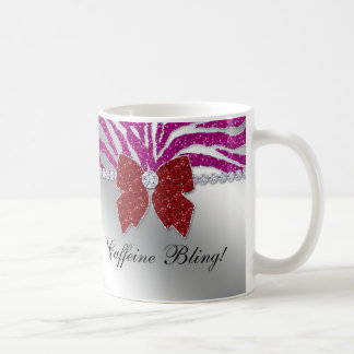 Funny Christmas Valentine's Mug Zebra Bling
