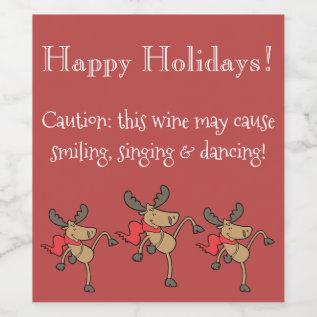 Funny Christmas Wine Label at Zazzle