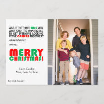 Funny Christmas Wise Men Photo Card