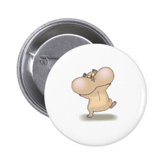 funny chubby cheeks hamster 2 inch round button