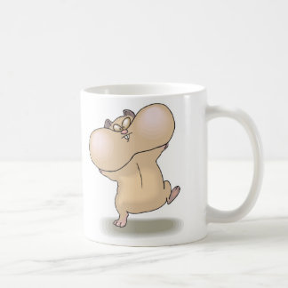 funny chubby cheeks hamster classic white coffee mug