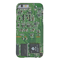 Funny circuit board barely there iPhone 6 case