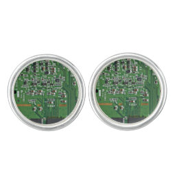 Funny circuit board cufflinks