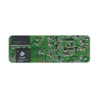 Funny circuit board custom return address labels