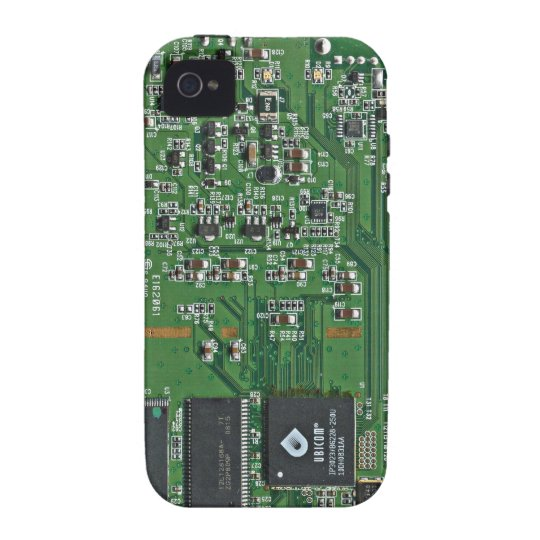 Funny circuit board iPhone 4 case