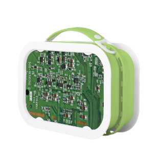 electronic lunch boxes zazzle rh zazzle com Circuit Board Tattoo Circuit Board Borg Cube