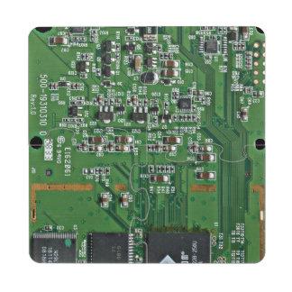 Funny circuit board puzzle coaster