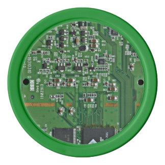 Funny circuit board poker chips set