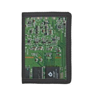 Funny circuit board tri-fold wallets