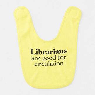 Funny Circulation Pun Librarian Gift Bib for Baby