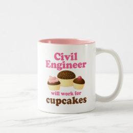 Funny Civil Engineer Two-Tone Coffee Mug