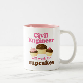Funny Civil Engineer Two-Tone Coffee Mug