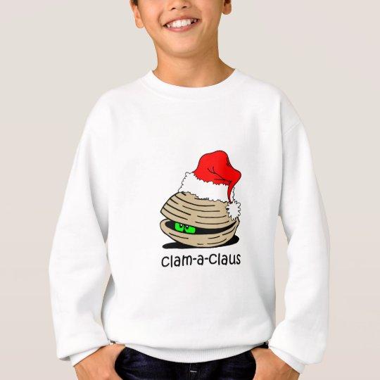 Funny clam Christmas Sweatshirt