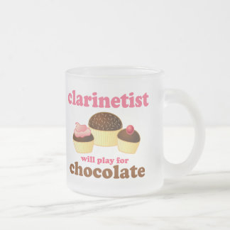 Funny Clarinet Frosted Glass Coffee Mug