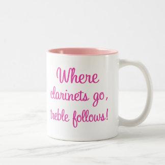 Funny Clarinet Treble Gift Coffee Mug